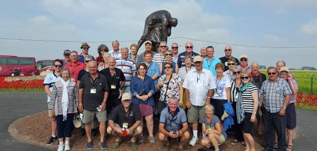 Fromelles and Pozieres 2016 Tour_Mike Peters Yellow Coach
